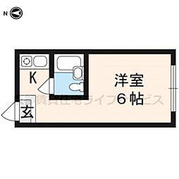 グローアップ京都[208号室]の間取り