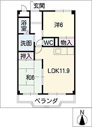 フォレストサイドK−1[2階]の間取り