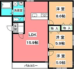久米コンセールマンション[302号室]の間取り