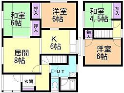 JR室蘭本線 崎守駅 徒歩11分の賃貸一戸建て 1階4LDKの間取り
