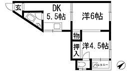 Casa de 鼓が滝[2階]の間取り