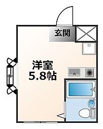 兵庫県西宮市甲子園網引町の賃貸マンションの間取り