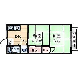 ニシマンション[0201号室]の間取り