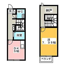 リースランド平福 A棟[1階]の間取り