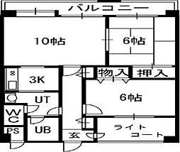 TOAマンション[01005号室]の間取り
