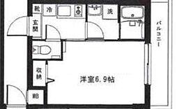 東京メトロ丸ノ内線 中野新橋駅 徒歩4分の賃貸マンション 4階1Kの間取り