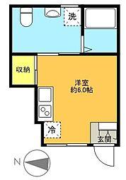 東京都世田谷区梅丘3丁目の賃貸アパートの間取り