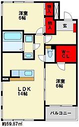 Confort−IK(コンフォートアイケイ)[4階]の間取り