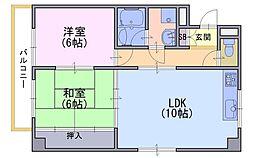 ノアコート森田[3階]の間取り