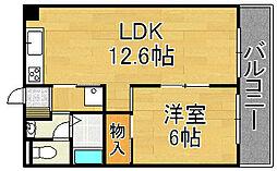Le・Ciel[6階]の間取り