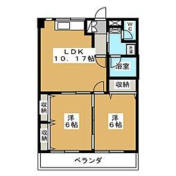 わかばハイツA[1階]の間取り