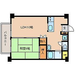横尾ビル[405号室]の間取り