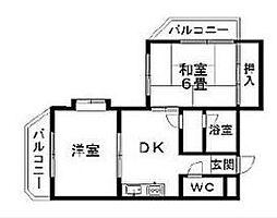 神奈川県横浜市磯子区上中里町の賃貸マンションの間取り