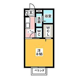静岡県富士市川成島の賃貸アパートの間取り
