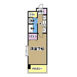 東京都国分寺市日吉町3丁目の賃貸マンションの間取り