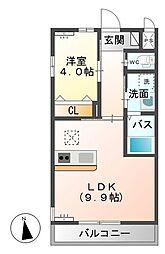 シェルル小金井(仮)[201号室]の間取り