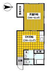 神奈川県横浜市南区大岡3の賃貸アパートの間取り