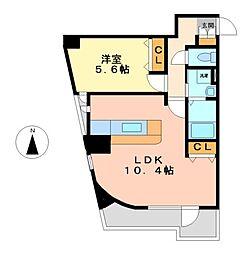 カーサフェルティーレ[1階]の間取り