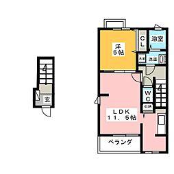 クレール・ボヌール[2階]の間取り