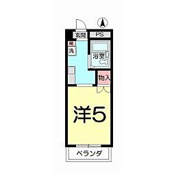 第153 VIP宮原[201号室]の間取り