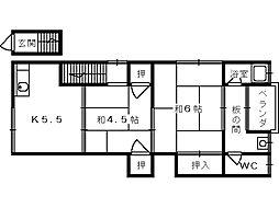 大阪府和泉市伯太町6丁目の賃貸アパートの間取り