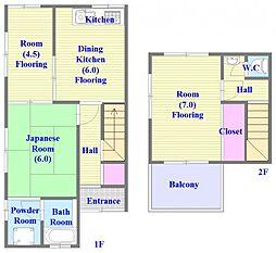 [タウンハウス] 兵庫県神戸市垂水区舞子台6丁目 の賃貸【/】の間取り