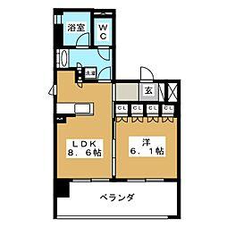 リーガル京都聖護院[2階]の間取り