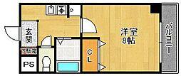 コンチェルト西宮[202号室]の間取り