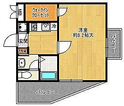 ビガーポリス133宝塚[3階]の間取り