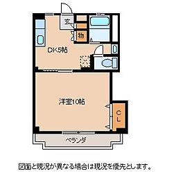 長野県諏訪郡富士見町落合の賃貸マンションの間取り