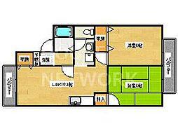 セジュール蘭[A206号室号室]の間取り