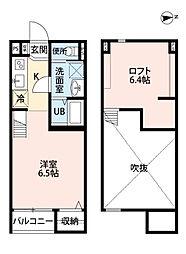 ヴィレッタ若江岩田(tateru)[2階]の間取り