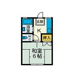 ハイツ平井[2階]の間取り
