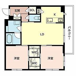 (仮称)八尾市シャーメゾン恩智北町3丁目計画 2階2LDKの間取り