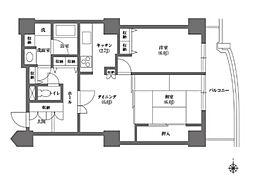 都営三田線 千石駅 徒歩4分の賃貸マンション 7階2DKの間取り