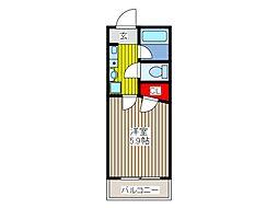 セレ−ノ並木[4階]の間取り