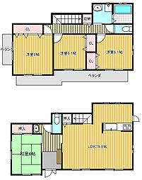 [一戸建] 愛知県名古屋市名東区香流1丁目 の賃貸【/】の間取り