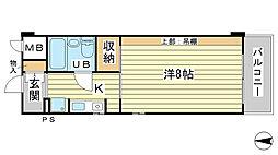 O−6マンション[405号室]の間取り