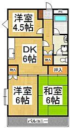 グレース山田[2階]の間取り