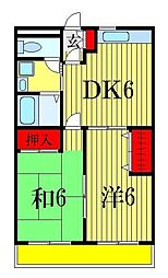 笹塚マンション[3階]の間取り