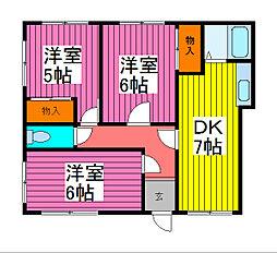 藤ハイツ[1階]の間取り