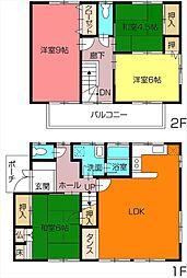 [一戸建] 香川県高松市松縄町 の賃貸【/】の間取り