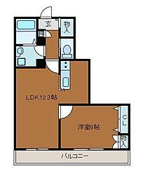 神奈川県相模原市南区上鶴間本町6丁目の賃貸マンションの間取り