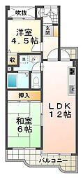 ハッピーコート大蔵谷駅前[4階]の間取り