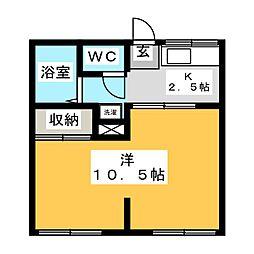 赤田ハイツ[1階]の間取り