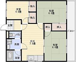 アクティ金田[3階]の間取り