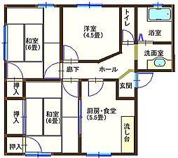 ラフォーレ山川 205号室[2階]の間取り