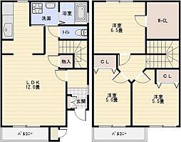 モンフレール1番館[1階]の間取り