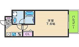 メゾンキコー難波ミナミ[8階]の間取り