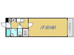 東京都江戸川区北葛西3丁目の賃貸アパートの間取り